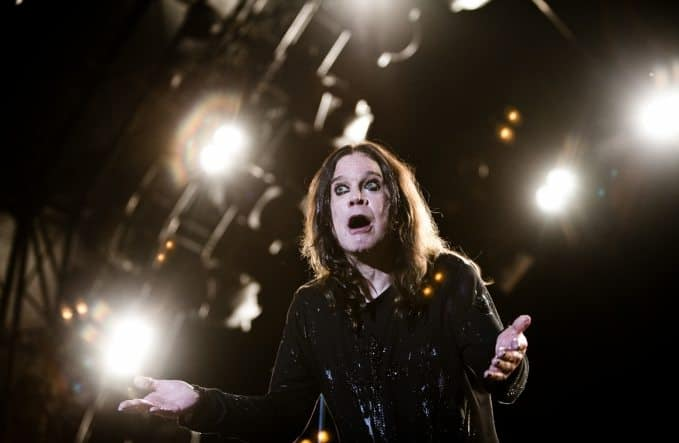 Ozzy on stage