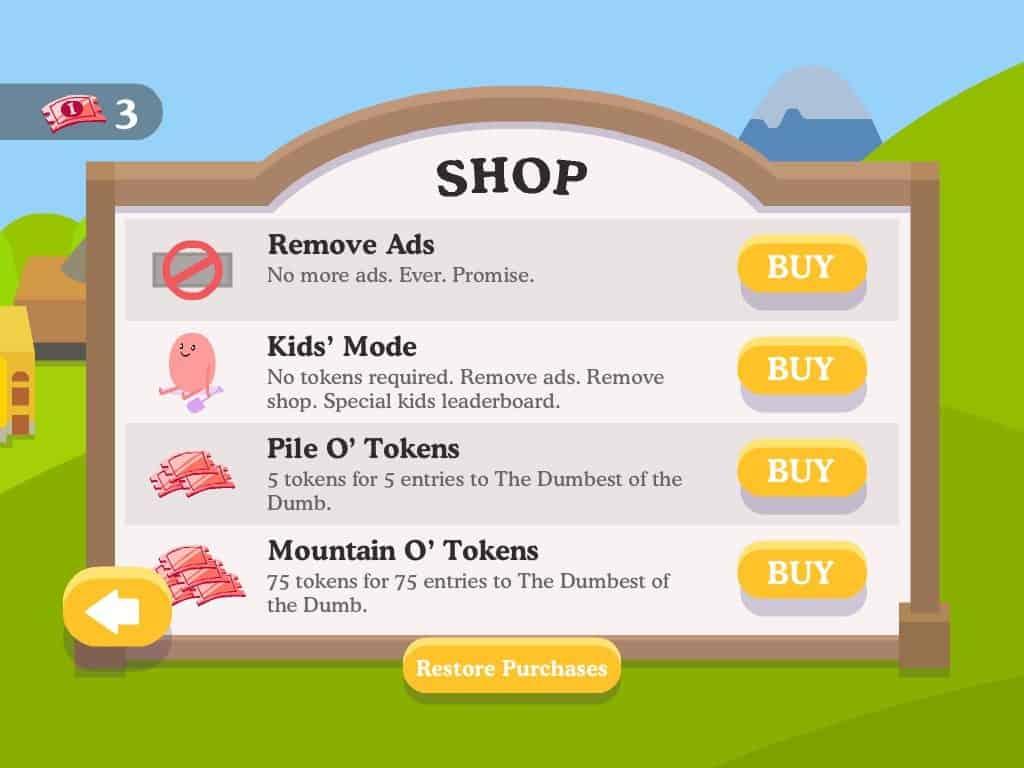 Dumbest website game