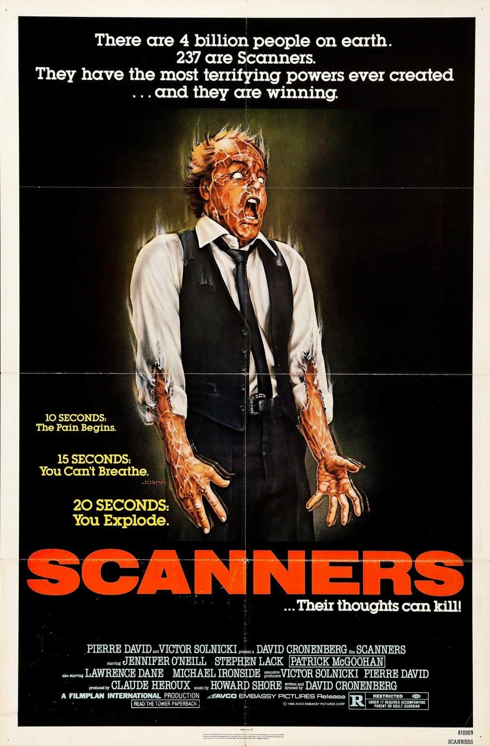 Horror Movie Review: Scanners (1981)