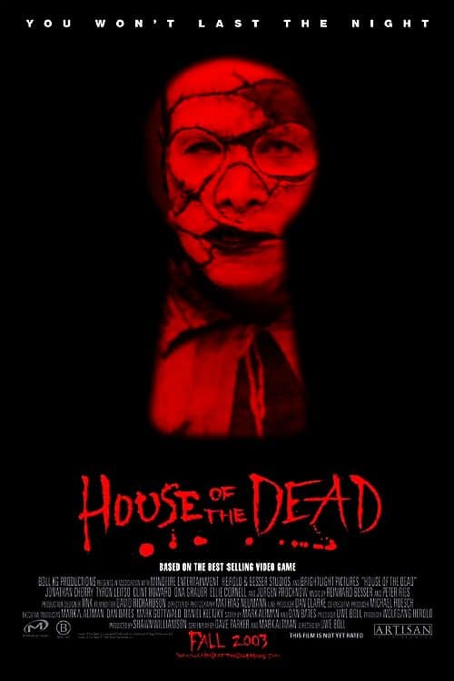 Game movie review house of the dead 2003 games for Housse of the dead
