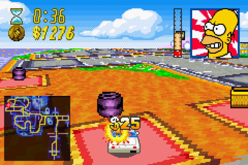 road rage simpsons games